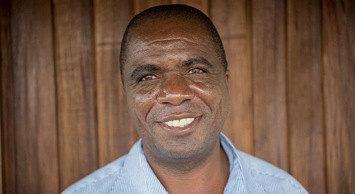 Thomas Ngwira. Direktor von Asud in Malawi